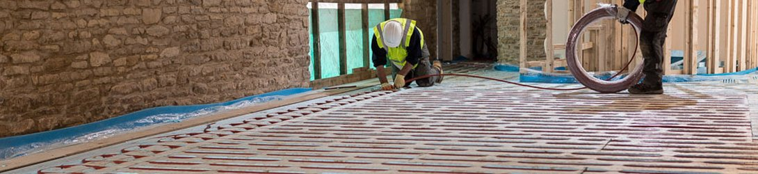 how to install underfloor heating screeded floors