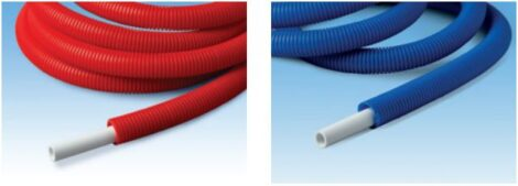 Hep2 O Pipe-in-Pipe is supplied in coils with a choice of red or blue conduit