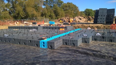 AquaCell crates being installed at Barton Park