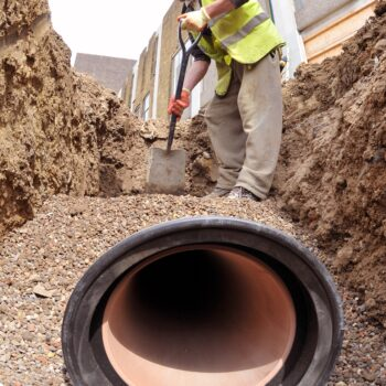 clay pipe installation