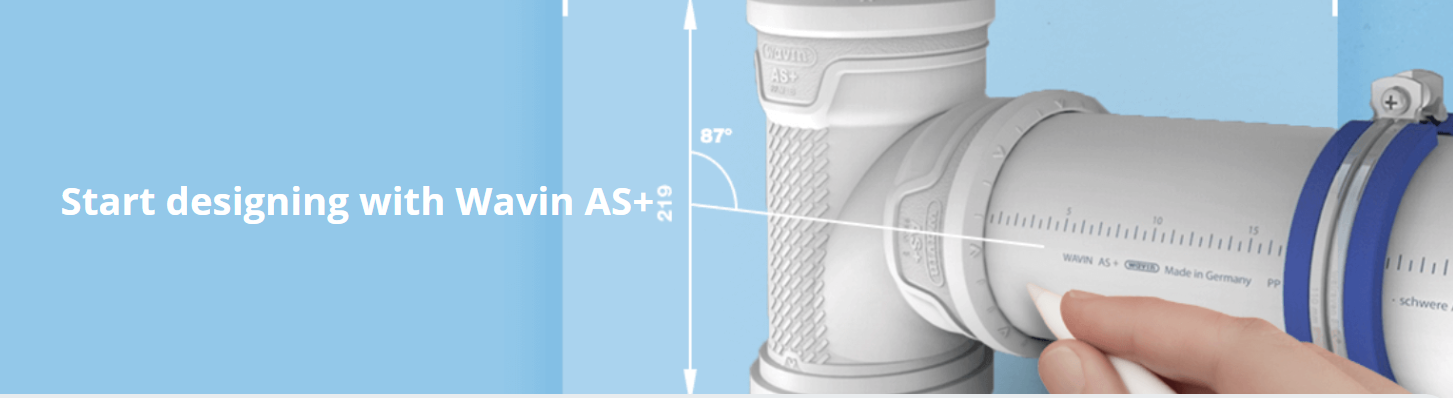 Wavin AS+ low-noise soil and waste pipe system
