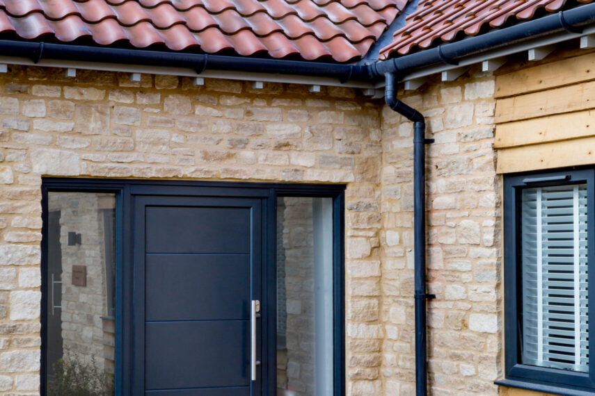 anthracite grey gutters